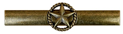 Set of 24 Drawer Handles Star with Rope Cabinet Pull Western Southwest Rustic Texas (Antique Brass) - Rustic Star Drawer Pulls