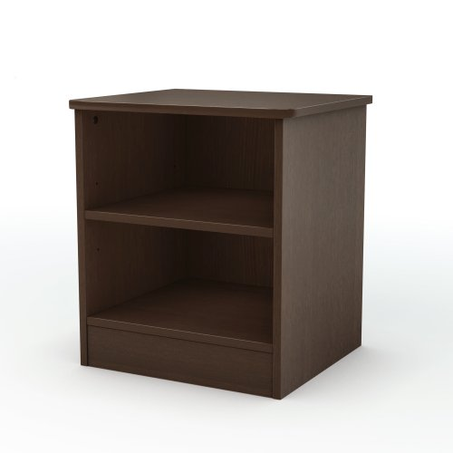 South Shore Libra Open 2-Shelf Nightstand, Chocolate