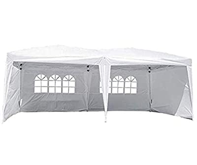 FDW New 10'x30' White Outdoor Gazebo Canopy Party Wedding Tent Removable Walls