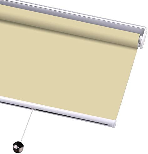 PASSENGER PIGEON Blackout Window Shades, Premium Free-Stop Cordless UV Protection Custom Roller Blinds, 75 W x 76 L,Beige