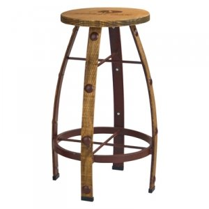 Mossy Oak Barrel Barstool with Brown Stain Finish (Wine Barrel Counter Stool)