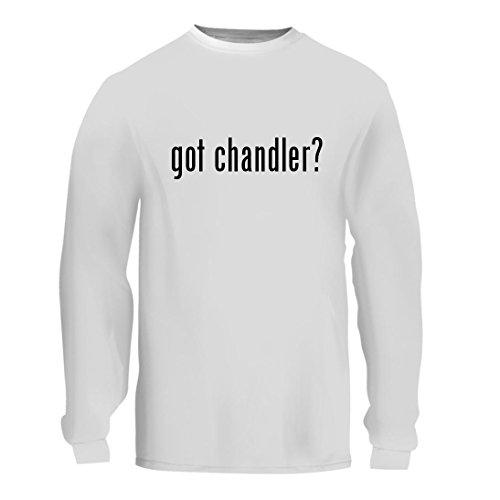 got chandler? - A Nice Men's Long Sleeve T-Shirt Shirt, White, - Corner 1 Tysons