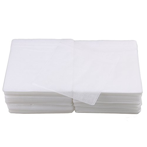 BQLZR 14x13cm White OPP Plastic Double-sided Disc CD DVD Sleeves Envelopes with Clear Window and Flap Pack of 500