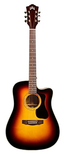 Guild GAD D-140CE Dreadnought Cutaway Acoustic-Electric Guitar - Sunburst with Guild Gad