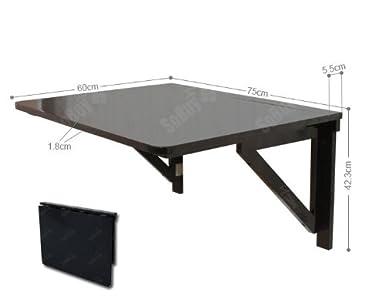 SoBuy® Mesa de cocina, mesa plegable de pared, mesa de madera, mesa ...