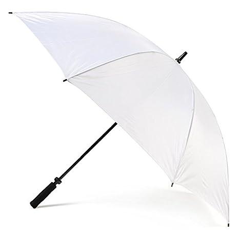 2x Nuevos paraguas blancos grandes del golf de la boda Nuevo