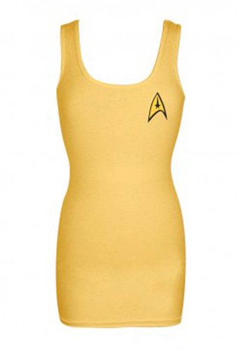 Command Gold Uniform -- Star Trek Fitted Juniors Tank-Top Shirt, Large