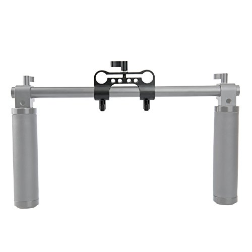 NICEYRIG 15mm Rod Clamp Dual to Single 90 Degree Railblock for Video Camcorder Camera DV/DC Shoulder Support System by NICEYRIG