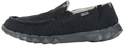 Hey Dude Farty Chalet Nero Shearling Mens Slipons Scarpe
