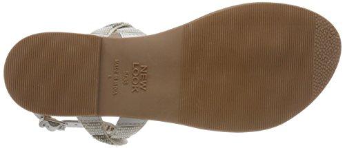 New Look Women's Flatter Open Toe Sandals White (White 10) 8llsnqCZ
