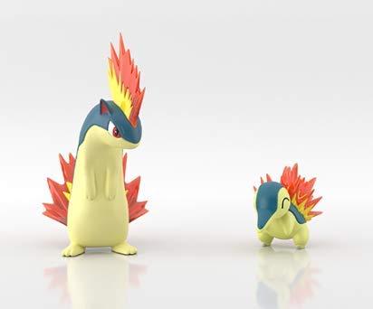 Takara Pokemon Scale World Jotoh Regison Mini Figure #2 Hinoarashi Cyndaquil Feurigel H/éricendre Magmaarashi Quilava Igelavar Feurisson