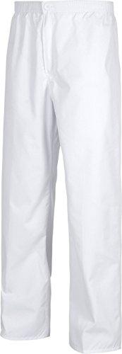 Zippée Poches Élastique Travail Taille Braguette Pantalon Blanc Sans Avec De Homme wSBH8qY