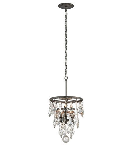 Pendants 3 Light with Graphite Finish Hand-Worked Wrought Iron Material Candelabra 20 inch Long 180 Watts