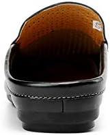 サンダル メンズ オフィス サンダル 本革 ビジネスサンダル かかとなし 事務サンダル カジュアルスリッパ ドクターサンダル 革靴 職場用 夏 穴あき 通気性