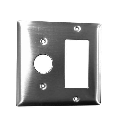 Amba AJ-DGP Jeeves Double Gang Wall Plate, Stainless Steel Jeeves Double Gang Plate