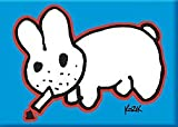 Artist Frank Kozik Original Smoking Bunny Fridge