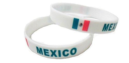 Multicolor Country Flag Unisex Silicone Bracelet Rubber Sport Fashion Wristband Cuff Size 8 Inches 20.2 Cm (Country Flag Silicone Bracelets)