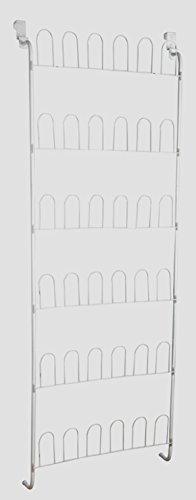 Kids Shoe Rack Storage Organizer Hanging Over the Door for Children's Womens Ladies Lightweight Shoes - Space Saving Metal Wire Shoes Holder - Perfect Life Ideas