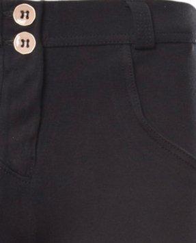 Freddy WR.UP Damen Pushup - Regular Waist Skinny - verschiedene Farbvariationen (S, N0/schwarz matt)