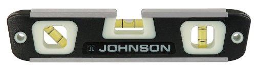 Johnson Level & Tool 007 10-Inch Glo-View Magnetic Torpedo (Magnetic Super Torpedo Level)