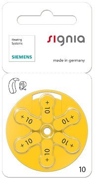 Siemens Signia Hearing Aid Battery 10 (Silver) -60 Pieces