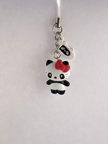 - Sanrio Hello Kitty Panda Mascot Figure Charm Strap - White Panda Kitty