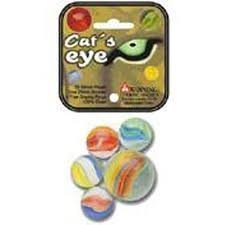 Cat 's Eye Game Net Set 25 Piece Glass Mega Marbles Toy by fs-usa B0170TR826