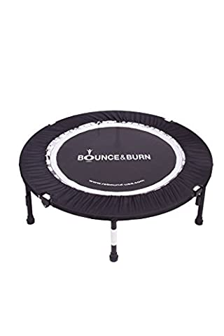 Bounce & Burn II - Mini Trampoline – Best seller - Affordable & FUN way to lose weight and get FIT! Includes DVD & FREE 3 MONTHS VIDEO (Beginner Rebounder Dvd)