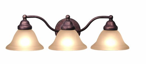 Woodbridge Lighting 50027-MBZ Anson 3-Light Bath//Vanity Light Marbled Bronze