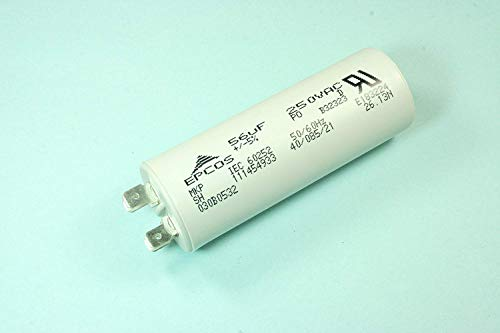 (LY #16) EPCOS 56uF 250vac Garage Door Motor Run Film Capacitor Lift Master ()