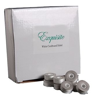 Polyester Prewound Bobbins (Exquisite Cardboard Sided White Pre-wound Polyester Sewing/Embroidery Bobbins Style