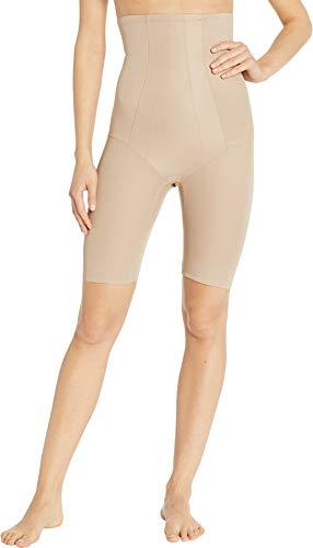 (Miraclesuit Shapewear Women's Extra Firm Shape with an Edge Hi-Waist Long Leg Stucco Medium )