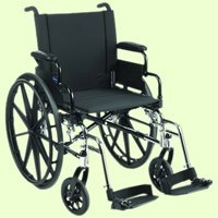 Invacare IVC™ 9000 SL Wheelchair: - Swingaway Footrests Composite Footplates w/ Heel Loops
