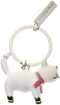 Bombay Duck White Cat Keyring