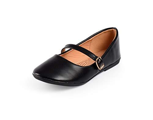 Nova Utopia Toddler Little Girls Dress Ballet Mary Jane Bow Flat Shoes,NF Utopia Girl NFGF060New BlackPU 4
