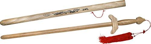 BladesUSA SW-041 Martial Art Hardwood Tai Chi Sword 38.5-Inch (Wood Scabbard Swords)