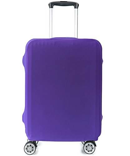 HoJax Spandex Travel Luggage Protector Suitcase Covers Fits 23-25 Inch Luggage Purple