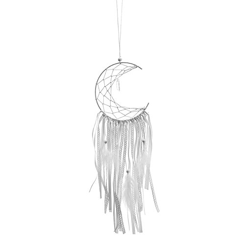 ream Catcher Half-Moon Craft Wind Chimes Home Car Hanging Decor ()