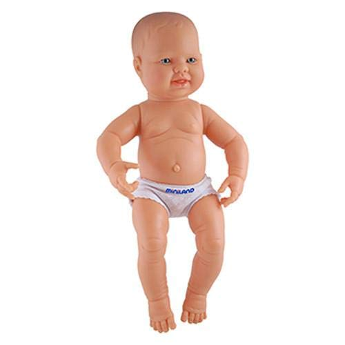 Miniland 15.75 inch Anatomically Correct Caucasian Boy Newborn Doll ()