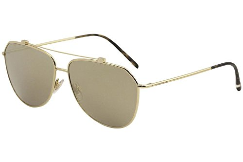Dolce & Gabbana Unisex 0DG2190 Gold/Light Brown Mirror Gold One - Sunglasses Dolce Gold Mens And Gabbana