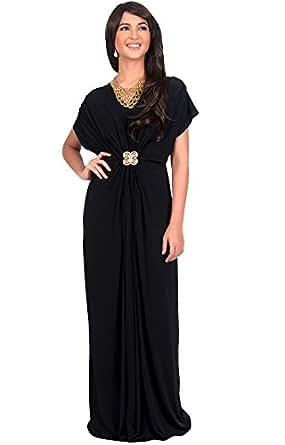 KOH KOH Womens Long V-neck Short Sleeve Semi Formal