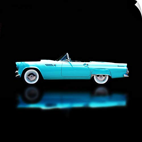 CANVAS ON DEMAND Clive Branson Wall Peel Wall Art Print Entitled 56 T - Bird Convertible 35
