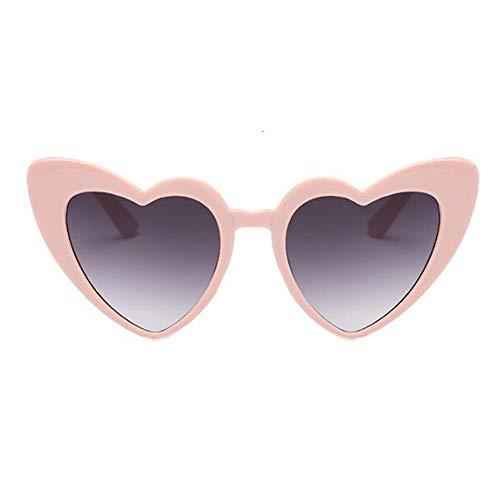 sol Ojo de UV Proteccion Polarizado Eyewear de Conformado corazon Salirse Retro gato Estilo Gris1 ojos Gafas Clásico Gafas los Hzjundasi Amor Estiloso Rosa Pqa5TvW
