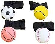 NUOBESTY Wrist Band Ball Set Wristband Exercise Reaction Wrist Balls Toy Elastic Bracelet Ball Healthy Sports