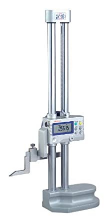 "Mitutoyo 192-671-10 LCD Digimatic Height Gauge, SPC Output, 0-18"" Range, 0.0005"" Resolution, +/-0015"" Accuracy, 7.5kg Mass"