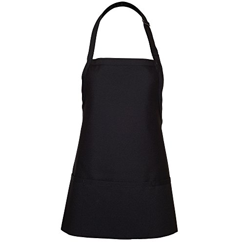Fame Adult's Extra Large 3 Pocket Bib Apron-Black-XL by Fame
