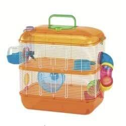 Arquizoo Jaula de Dos Pisos para Hamster o Pequeño Roedor: Amazon ...