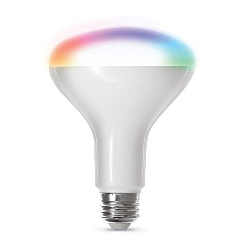 Feit Electric BR30/RGBW/CA/AG WiFi Changing and Dimmable, No Hub Required, Alexa or Google Assistant BR30 Smart LED Light Bulb, 65W, Multi-Color RGBW