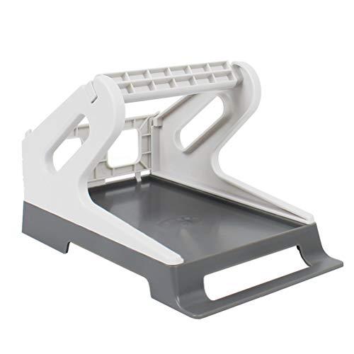 SEEBZ External Label Roll Holder, Roll Label Paper Holder, Fan-Fold Paper Holder for Desktop Label Printer Thermal Receipt Printer, 2 in 1, fits Delivery, Supermarket, Pharmacy Store
