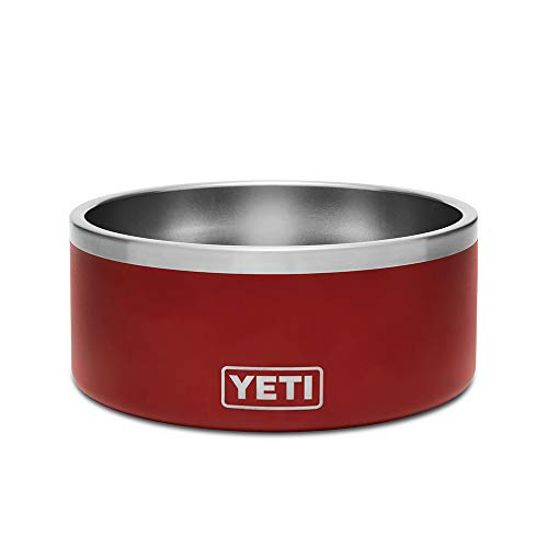 YETI Boomer 8 Stainless Steel, Non-Slip Dog Bowl, Brick Red Duracoat